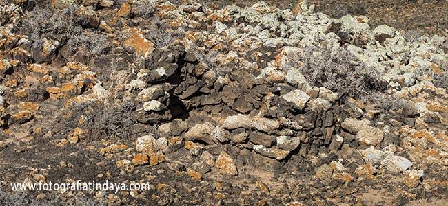 Estructuras prehispánicas en Corralejo