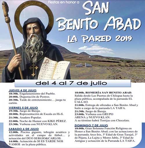Fiestas en honor a San Benito Abad - La Pared 2019