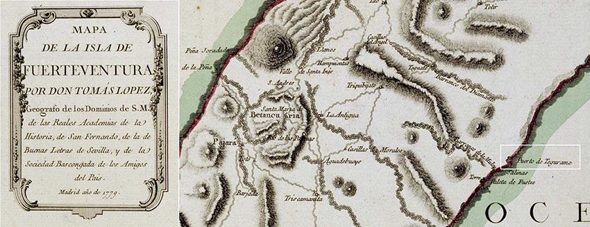 Mapa de Fuerteventura de 1779