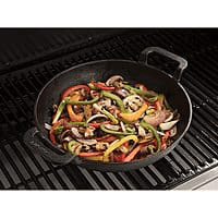 "美國代購 10"" Cuisinart 預製鑄鐵燒烤鍋 10CuisinartPreseasonedCastIronGrillingWok"
