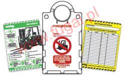 Forkliftag - korpus i wkładka (widoczny awers i rewers)