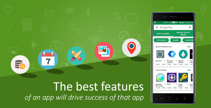Best features of a mobile app