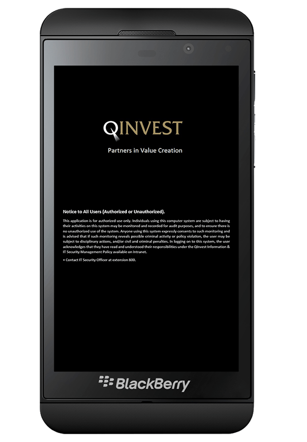 Qinvest-Blackberry application2