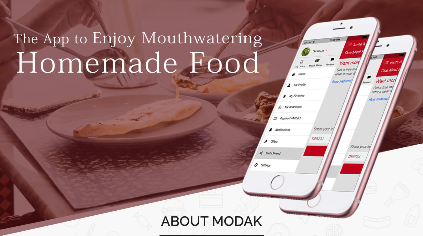 Modak iPhone app development banner design