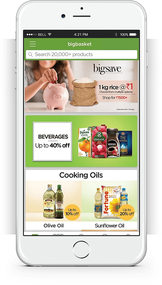 BigBasket-Android application development powered by FuGenX