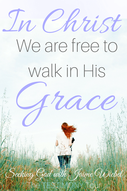 Once we have decided to give our life to Christ we are free to obey Him. We are free to walk in His grace.