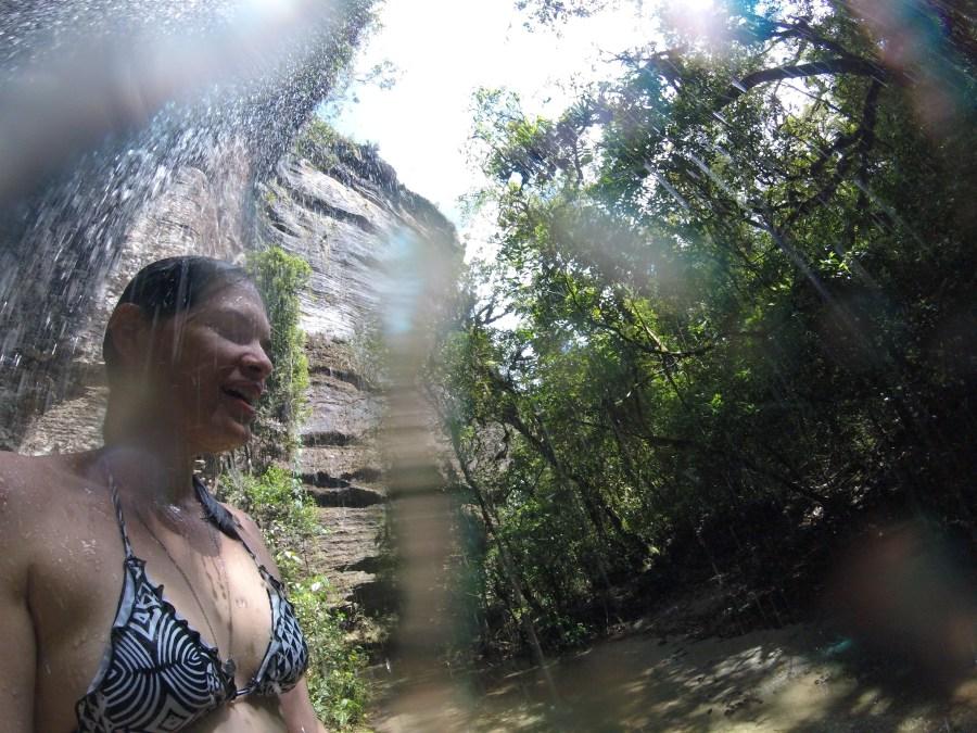 Cachoeira na Gruta dos Viajantes
