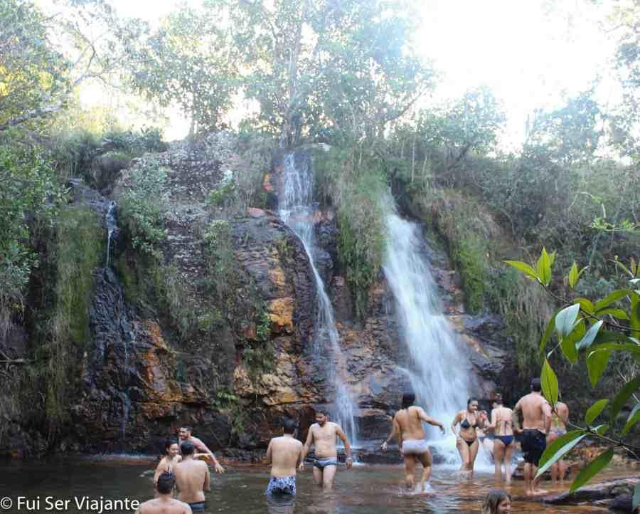 Cachoeira Véu de Noiva - Trilha da Cachoeira dos Cristais - Chapada dos Veadeiros
