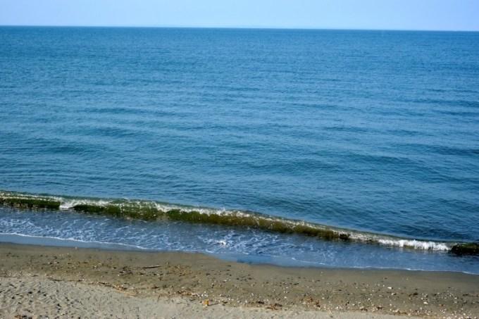 大淀ムーンビーチキャンプ場|寄せる波