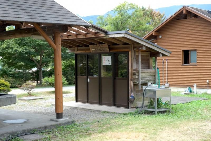 くのわき親水公園キャンプ場|ゴミ置場(西側)