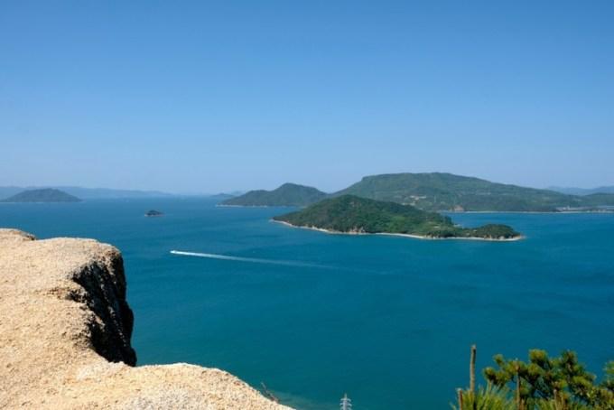 重岩から見た瀬戸内の島々