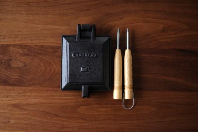 COGHLANS(コフラン)A&Fホットサンドクッカー|ハンドルを取り外した姿