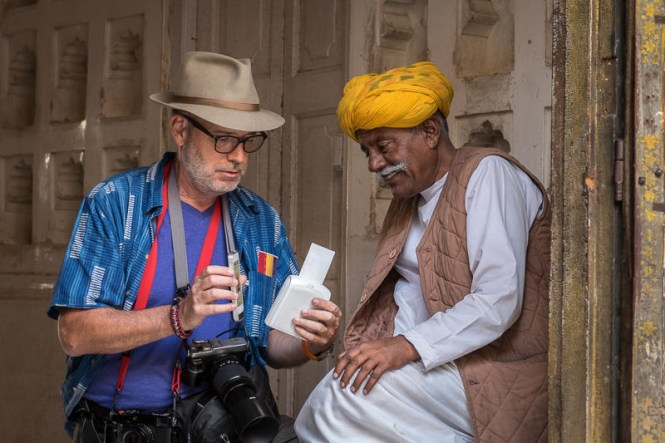 Matt Brandon, organizer of the 2015 Rajasthan Photo Workshop, with the Fujifilm Instax Printer. Read his review about the printer here.