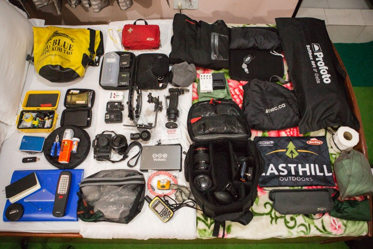 The essentials to traveling for a photography assignment in Nepal's countryside, Syangja, Nepal.