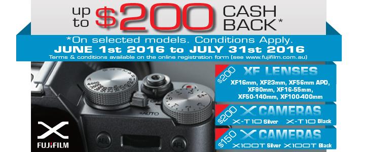 Fujifilm Australia X Series Cash Back