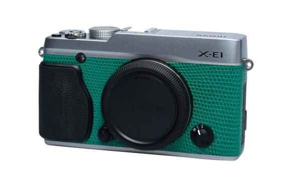 Silver X-E1 in Light Green