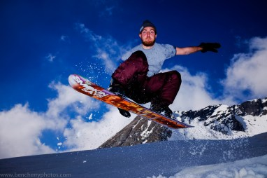 Ismar Badzic snowboarding