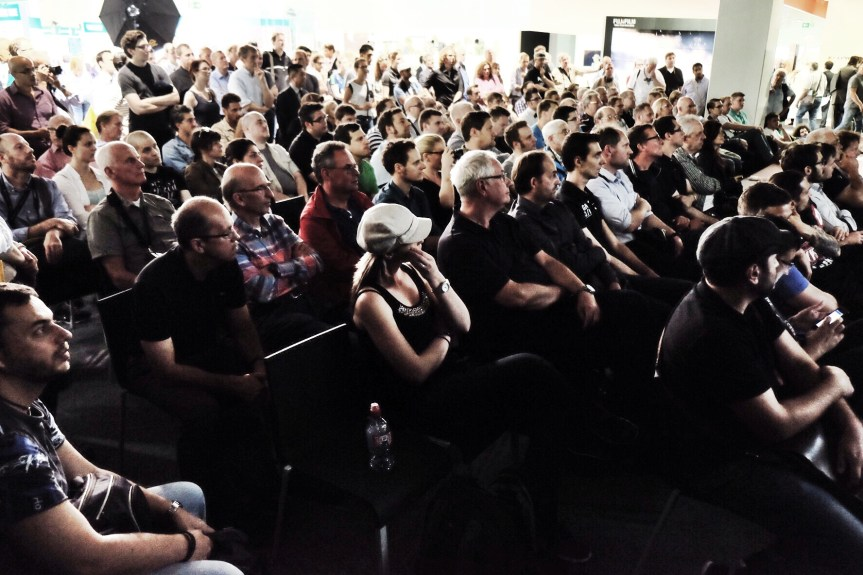 Large crowds came to listen to what our photographers had to say