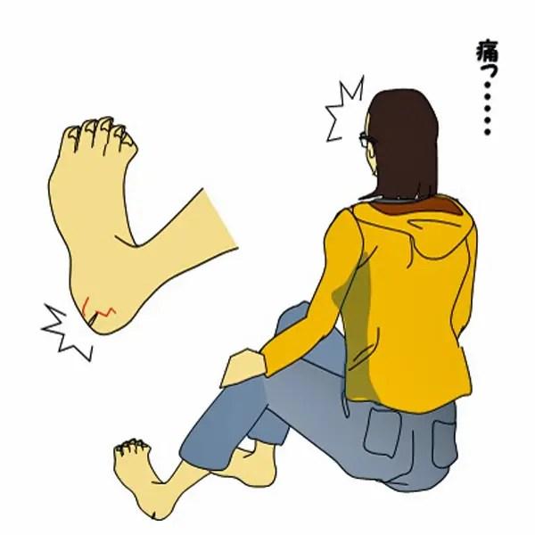 骨盤の歪みが原因のかかとの痛み