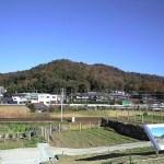 藤川の風景・関山神社側をのぞむ