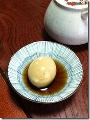 白須うどんの煮玉子