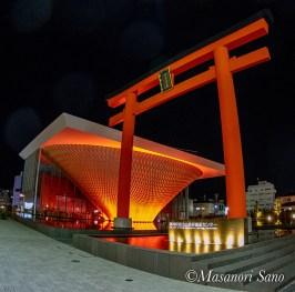 平成31年1月1日の静岡県富士山世界遺産センターの照明は赤色でした。