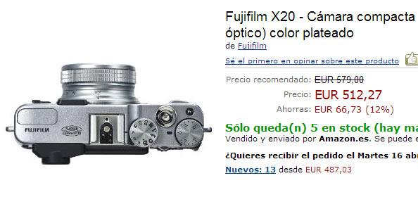 Fuji X20 en Amazon España