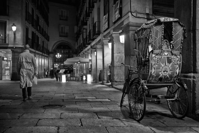 Un rickshaw en Madrid