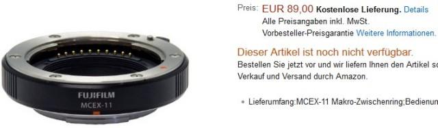 MCEX 11 en Amazon Alemania