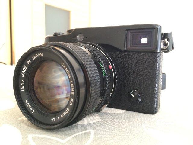 Fuji X-Pro1 + Metabones FD a FX + Canon FD 50mm f/1.4