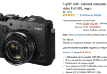 Cashback de 100 euros por Fuji X30