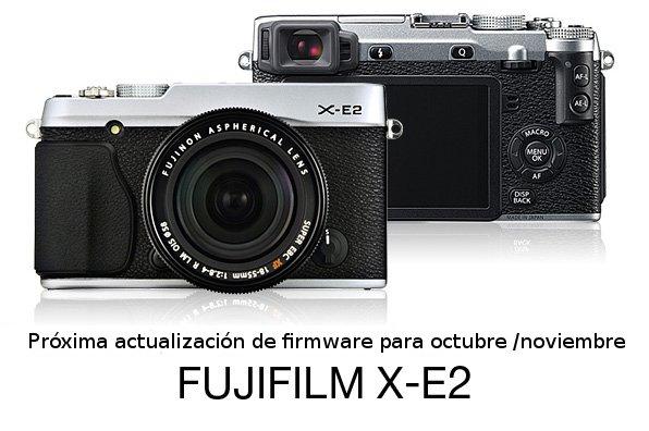 Actualización de firmware de la Fuji X-E2