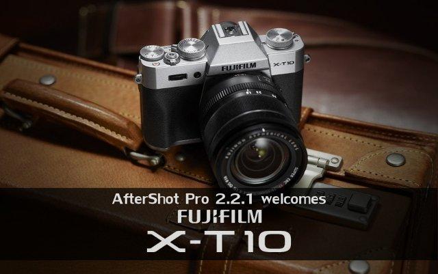 Soporte X-T10 en AfterShot Pro 2