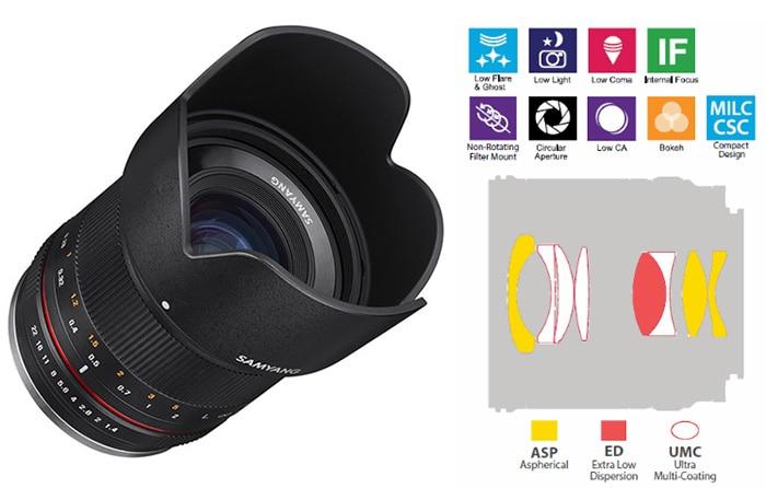 Samyang 21mm f/1.4 para Fujifilm Serie X