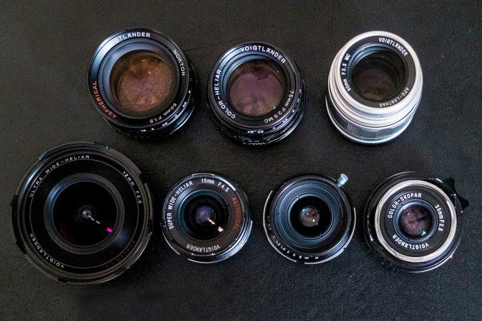 Colección de lentes Voigtländer.