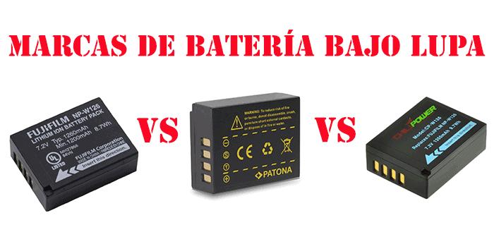 Comparativa de marcas de batería NP-W126