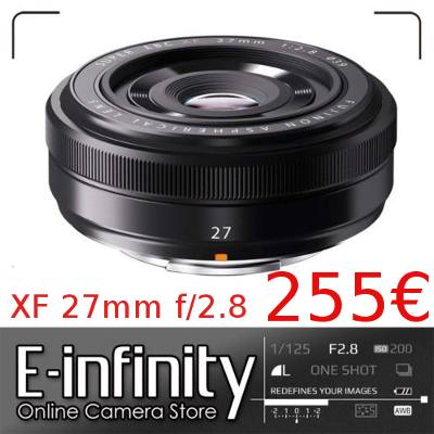 Comprar Fujinon XF 27mm f/2.8 en eBay