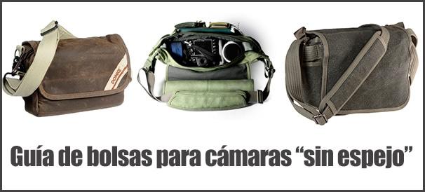 Guía de bolsas tipo bandolera para cámaras mirrorless,