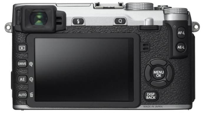 Fujifilm X-E2S detrás.
