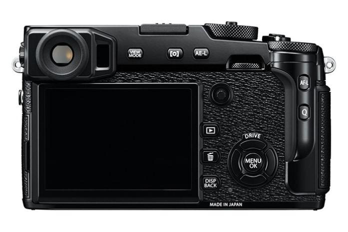 Fujifilm X-Pro2 vista desde detrás.