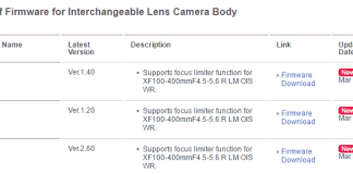 Firmwre para la X-E1, X-Pro1 y XF 100-400mm.