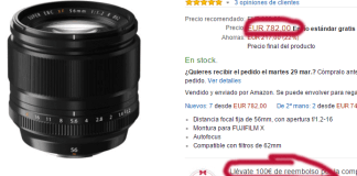 Oferta Fujinon Xf 56mm f/1.2
