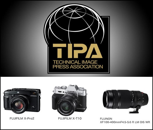 Premios Tipa 2016 para Fujifilm.