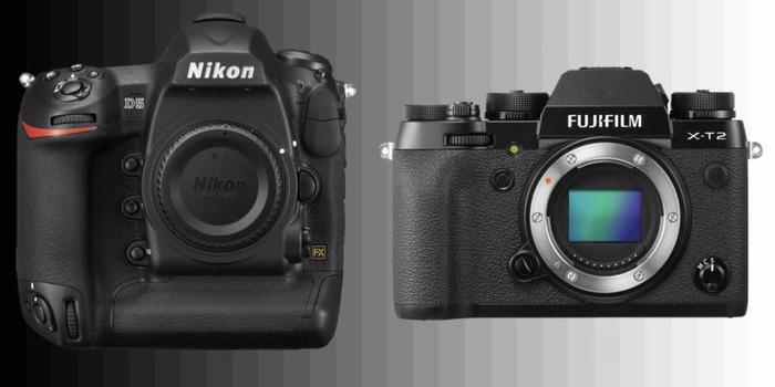 Nikon D5 frente a Fuji X-T2