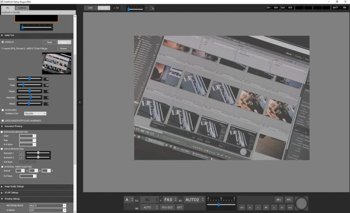 Captura de Fujifilm Tether Shooting Plug-in PRO.