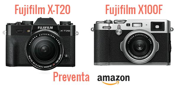 Preventa X-T20 y X100F.