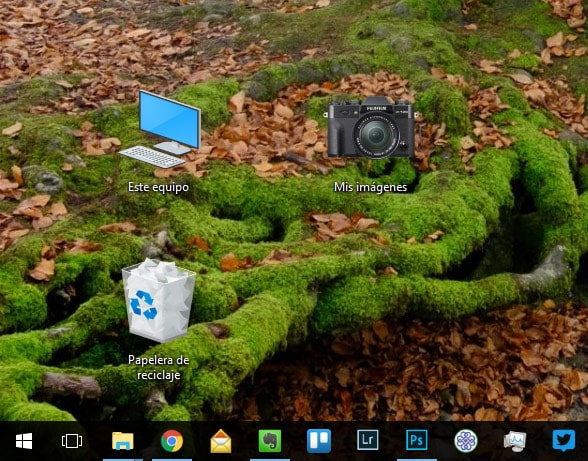 Icono de la X-T20 en escritorio de Windows 10.
