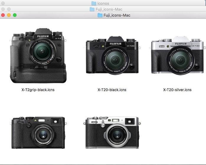 Iconos de la Serie X en macOS.