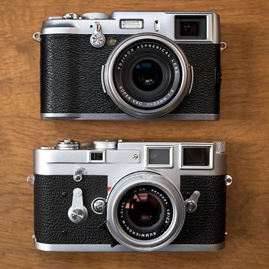 Fuji X100 vs Leica M3, por Nokton.