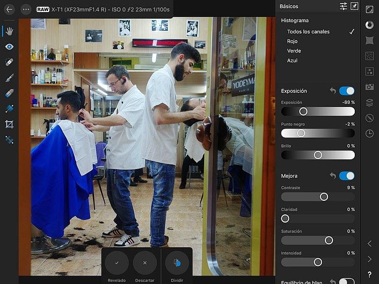 Affinity Photo para iPad, un potente editor fotográfico con revelado RAF